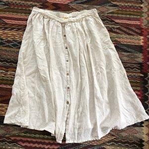 Button-down skirt